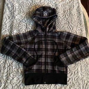 Lululemon Rare Black and White Scuba Jacket